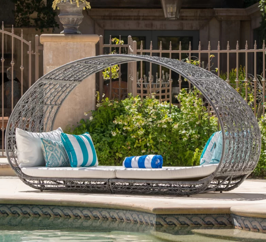 Latest 7 Beautiful Cozy Daybeds For Luxurious Outdoor Area – Cute Throughout Hatley Patio Daybeds With Cushions (View 12 of 20)