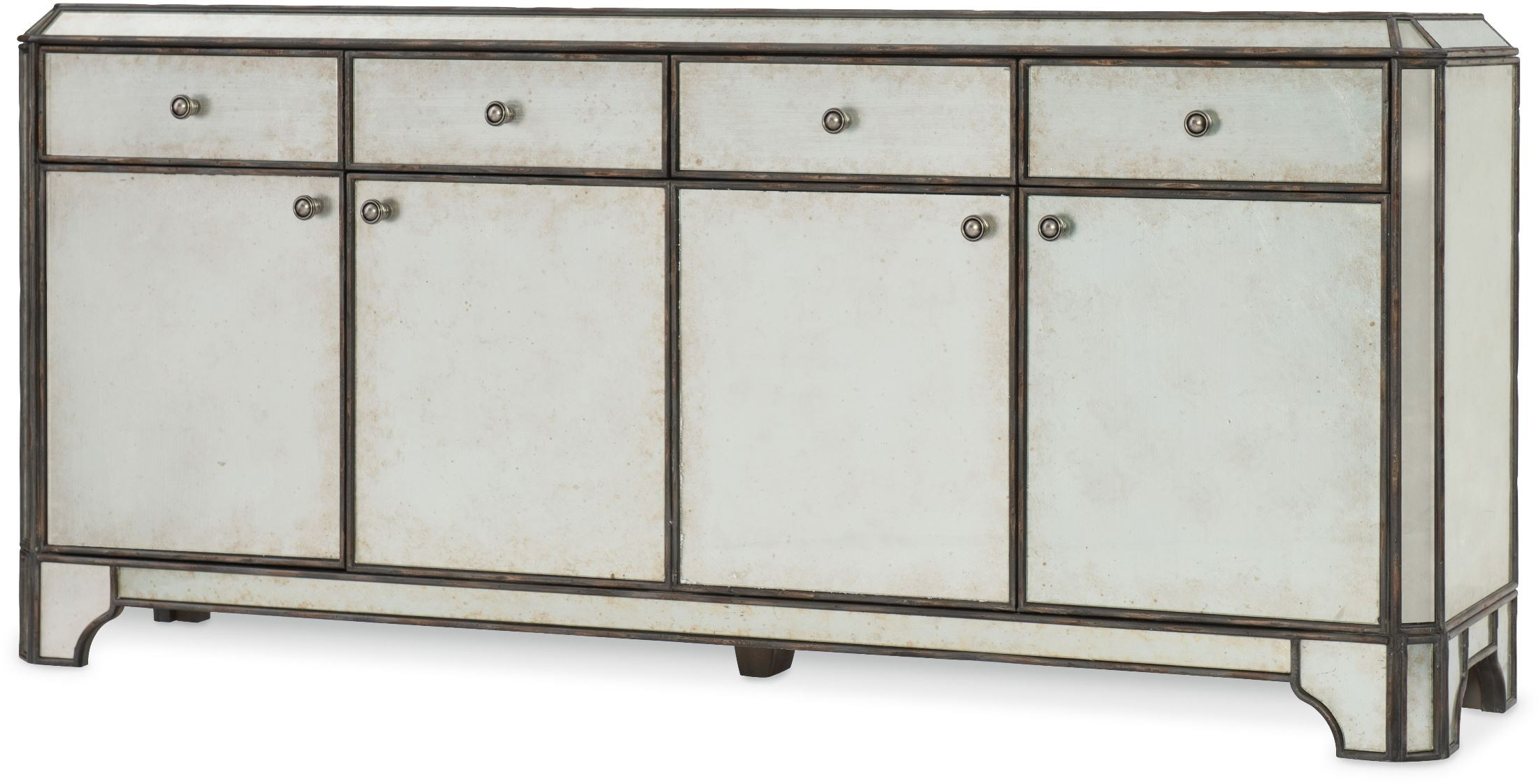 """Latest Arabella Painted Charcoal 74"""" Entertainment Credenza In Abhinav Credenzas (Gallery 6 of 20)"""