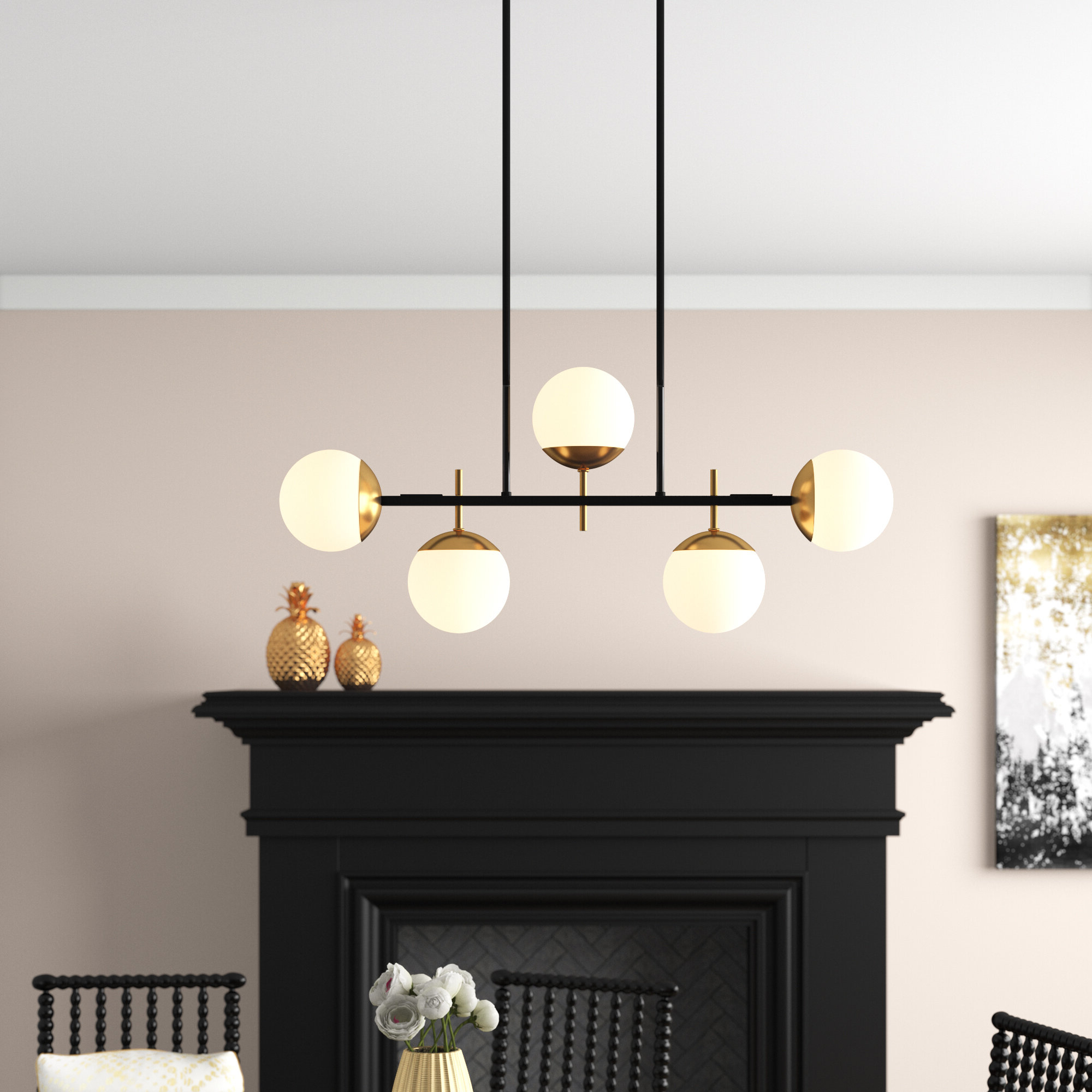 Latest Bautista 5 Light Sputnik Chandeliers In Rosanne 5 Light Sputnik Chandelier (Gallery 6 of 20)