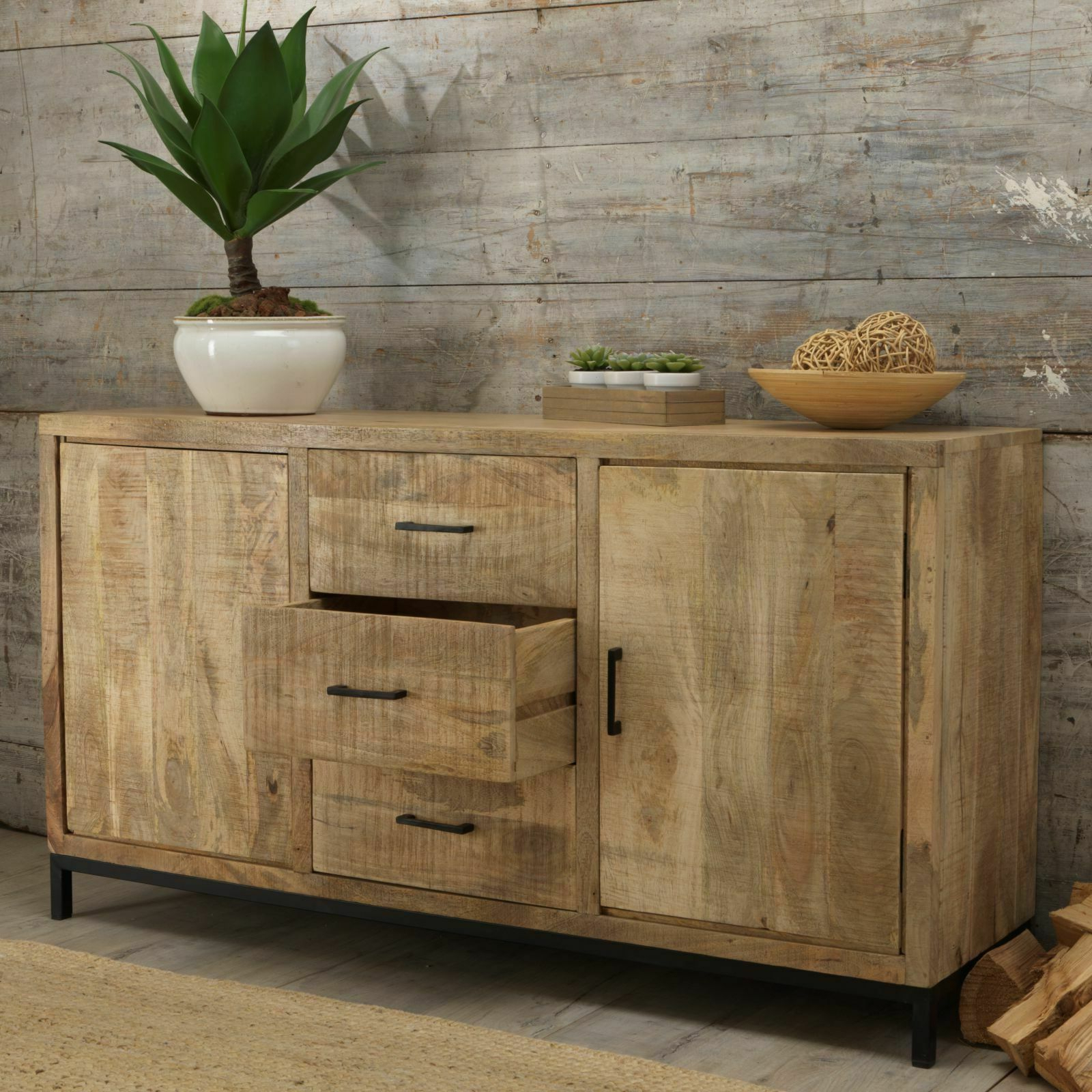 Latest Clifton Sideboards With Cove Reclaimed Wood Dining Living Room Furniture Large Sideboard (View 11 of 20)