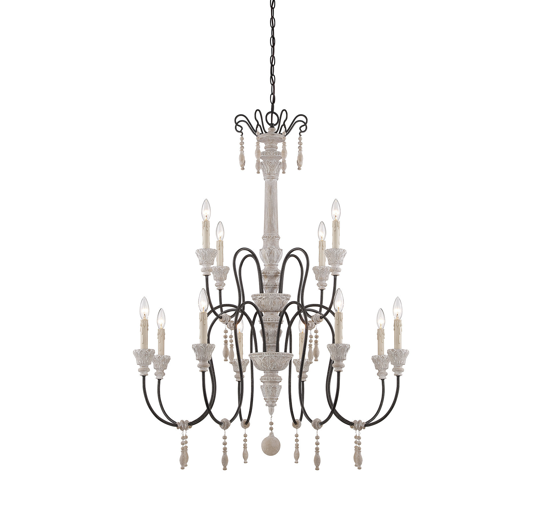 Latest Corneau 5 Light Chandeliers Pertaining To Corneau 12 Light Chandelier & Reviews (View 3 of 20)