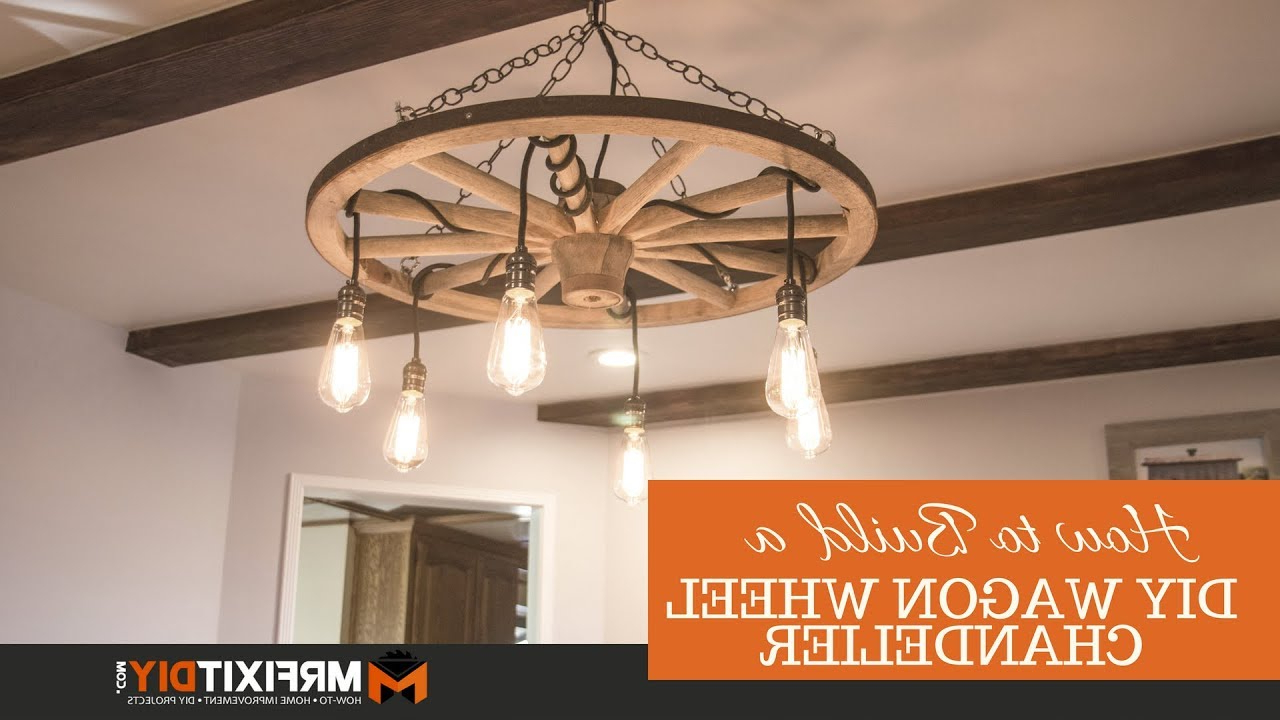 Latest Diy Wagon Wheel Chandelier Intended For Pickensville 6 Light Wagon Wheel Chandeliers (Gallery 14 of 20)