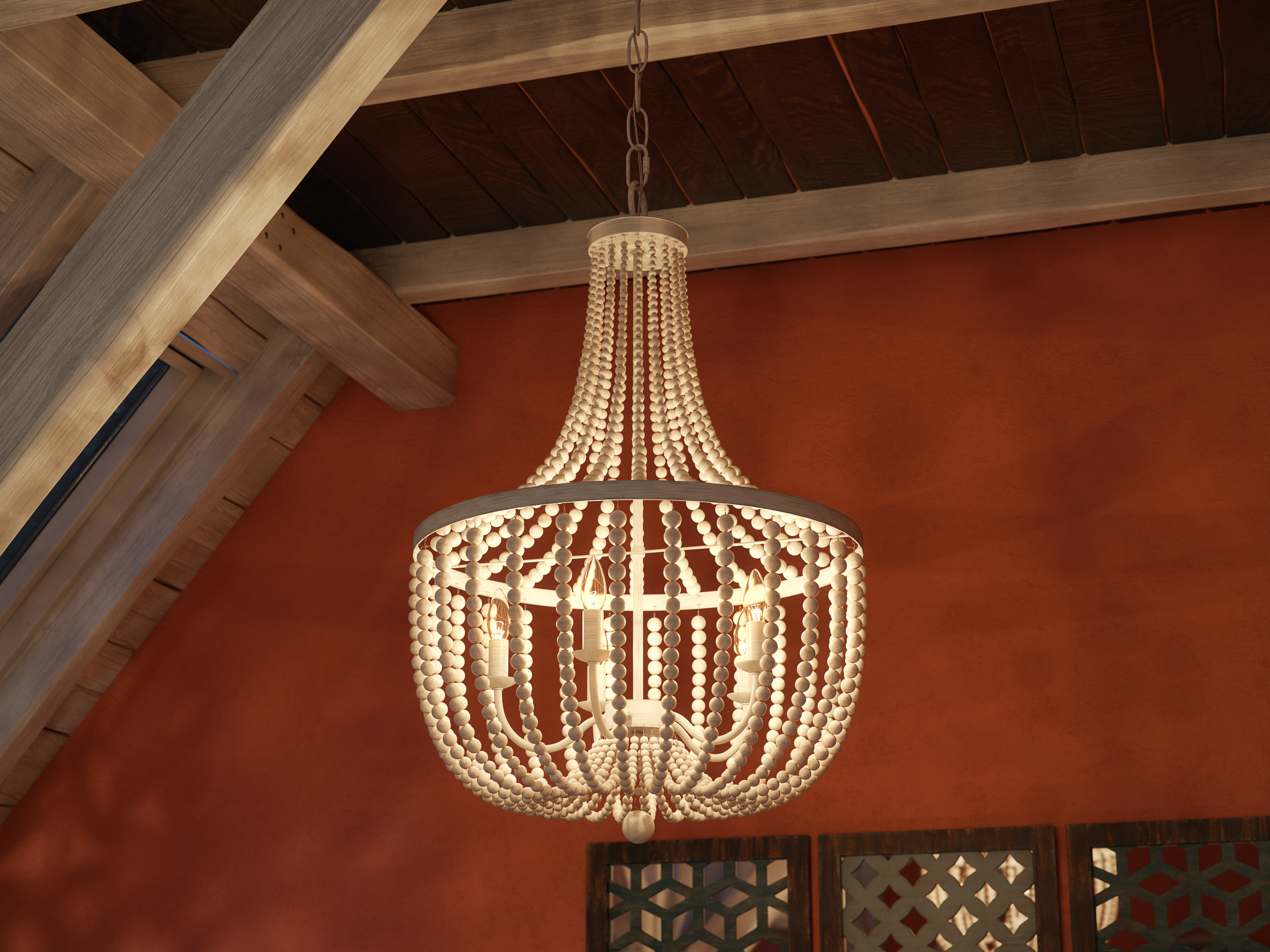 Latest Duron 5 Light Empire Chandeliers With Tilden Wood Bead 5 Light Empire Chandelier (View 11 of 20)