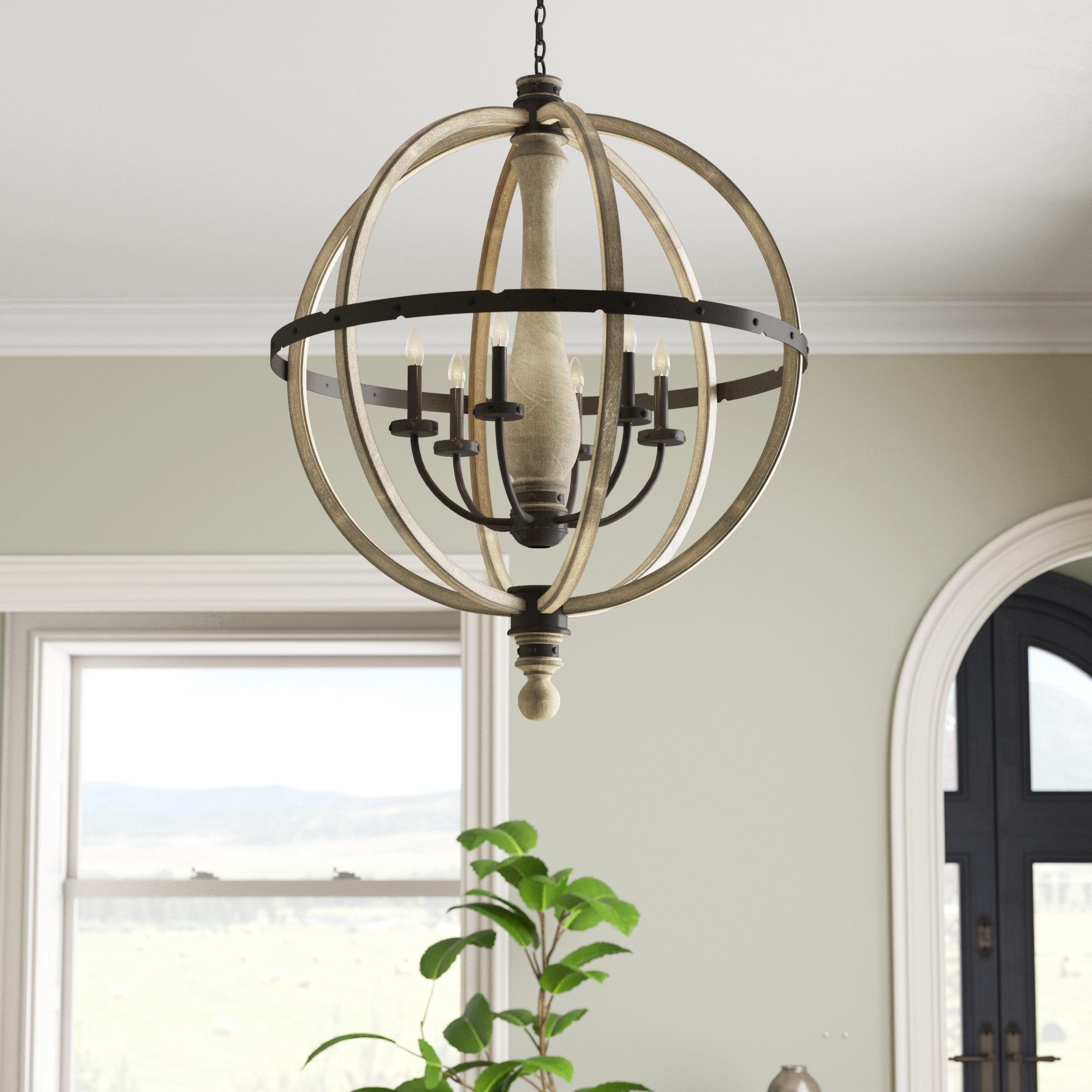 Latest Elisabeth 6 Light Globe Chandelier Inside Donna 6 Light Globe Chandeliers (View 15 of 20)