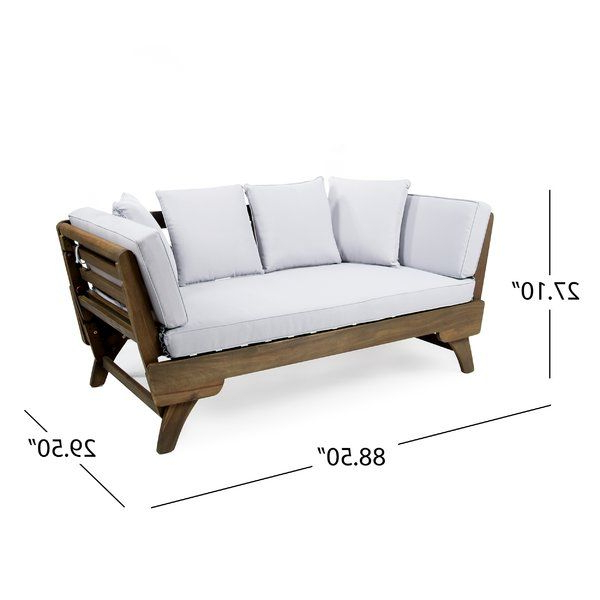 Latest Ellanti Teak Patio Daybed With Cushions (View 10 of 20)