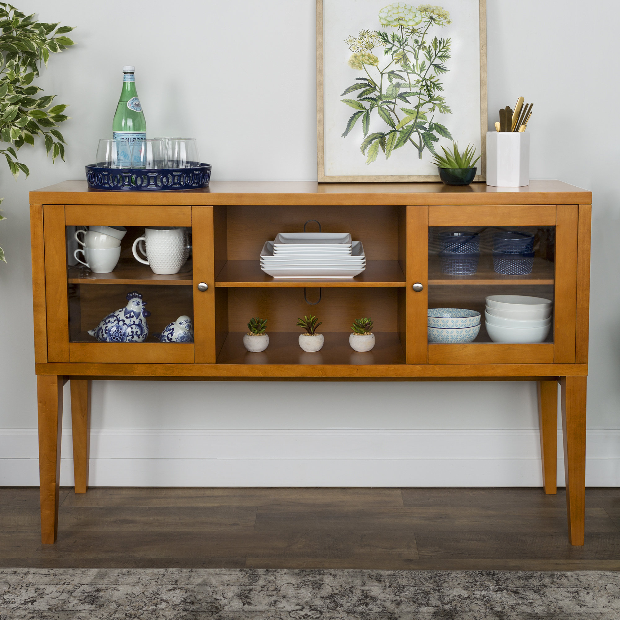 Latest Harwood Wood Buffet Table For Longley Sideboards (View 6 of 20)