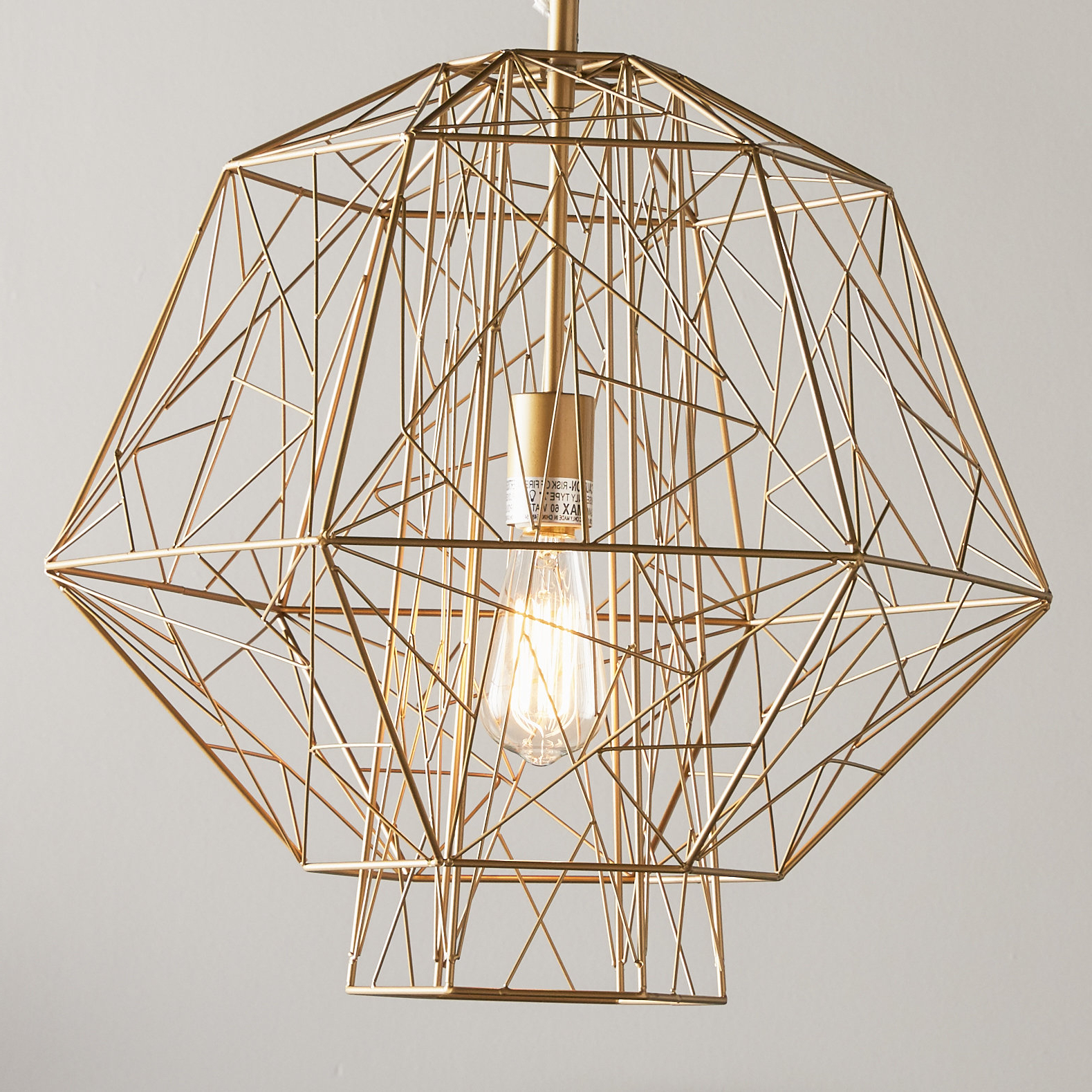 Latest Hydetown 1 Light Single Geometric Pendants In Hydetown 1 Light Single Geometric Pendant (Gallery 1 of 20)