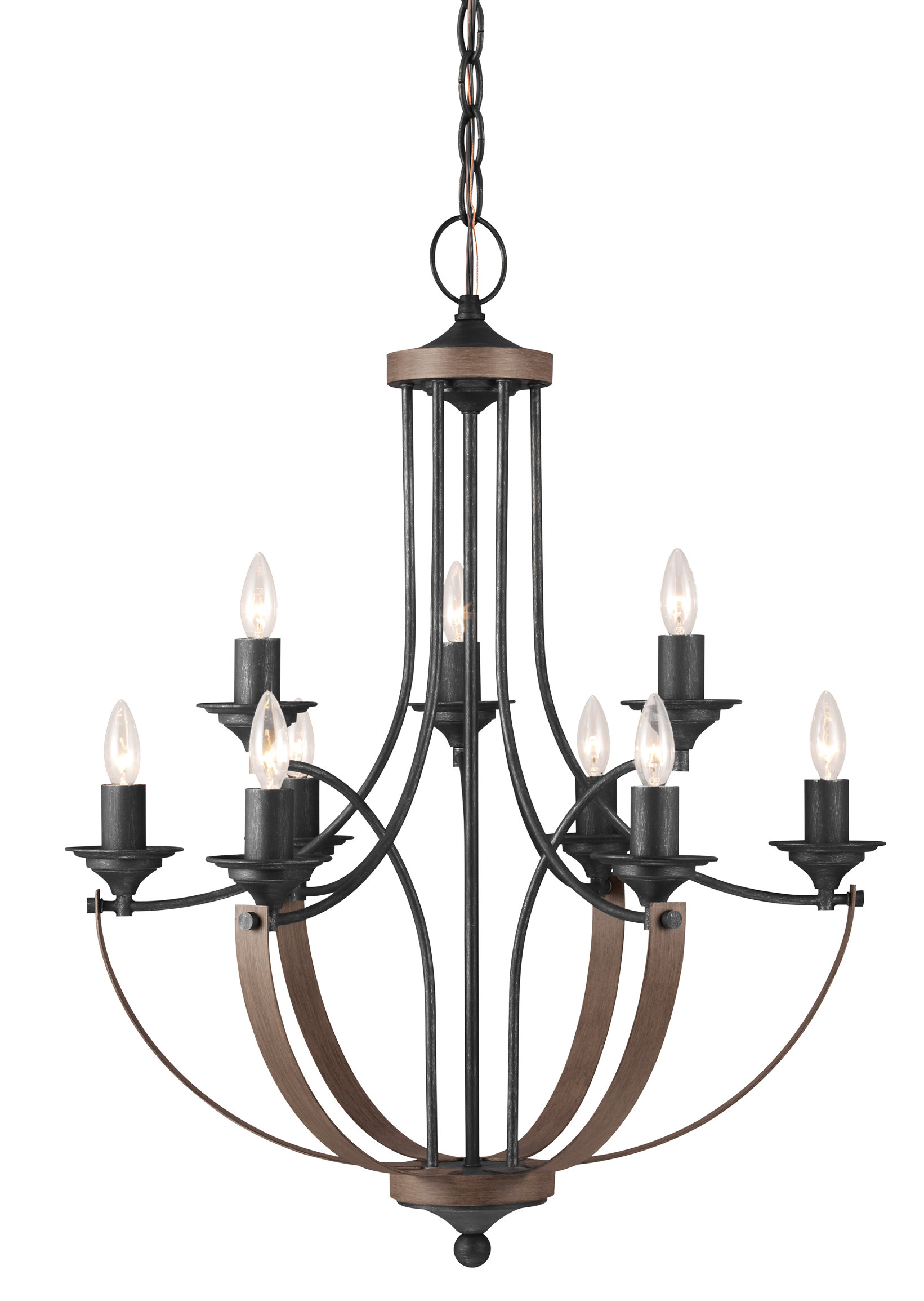 Latest Kenna 5 Light Empire Chandeliers Intended For Kenna 9 Light Empire Chandelier (View 11 of 20)