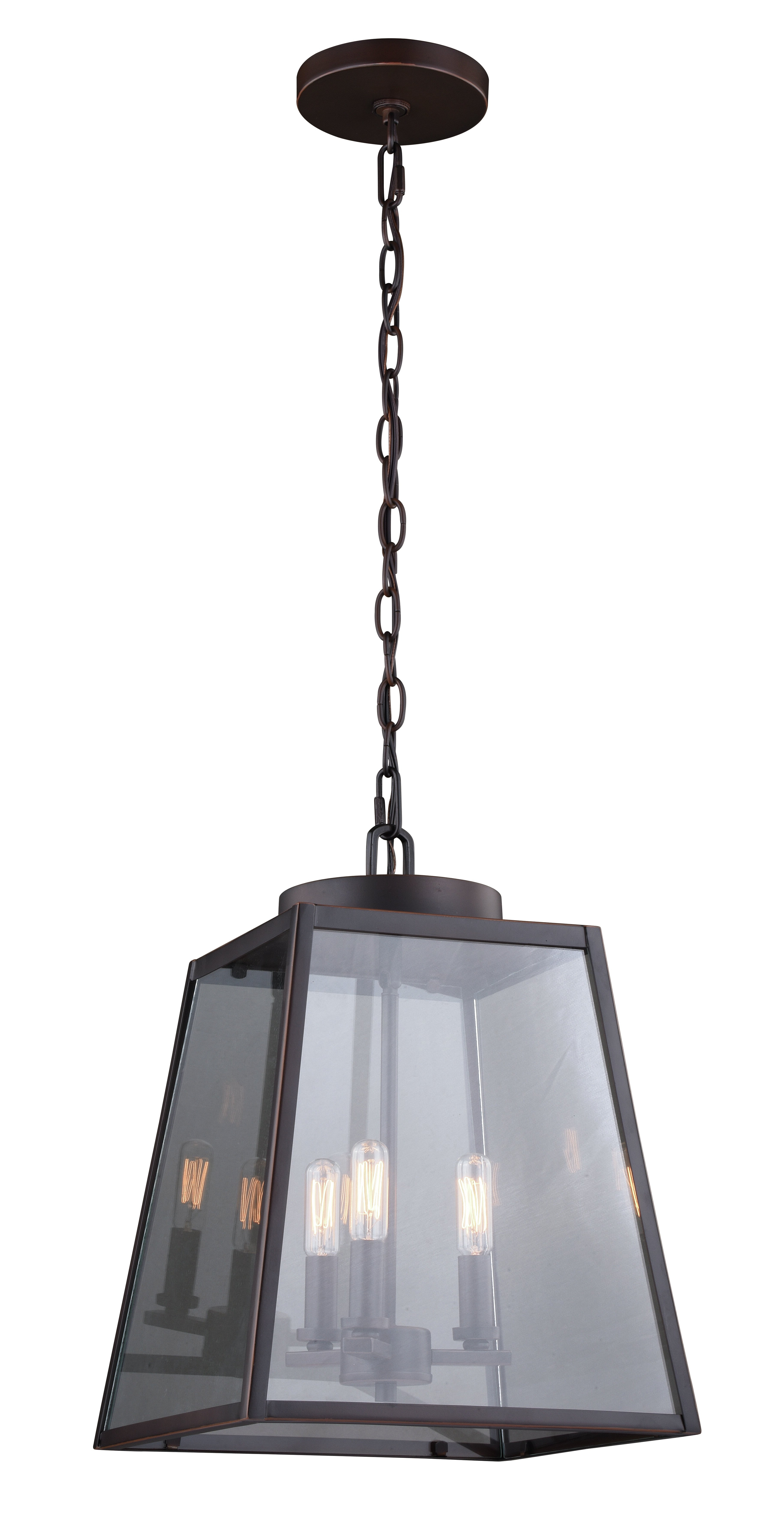 Latest Louanne 3 Light Lantern Geometric Pendant & Reviews (View 2 of 20)