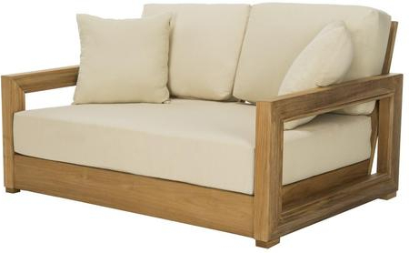 Latest Montford Teak Loveseats With Cushions Within Safavieh Cpt1003A (View 9 of 20)