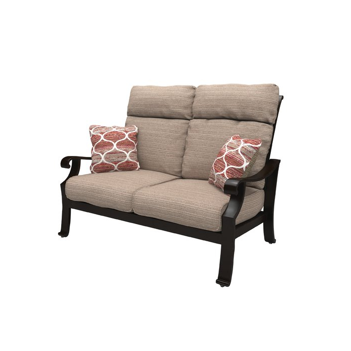 Latest Northridge Loveseats With Cushions Within Hamer Loveseat With Cushions (View 4 of 20)
