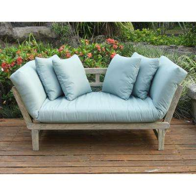 Latest Outdoor Daybeds – Outdoor Lounge Furniture – The Home Depot With Regard To Ellanti Teak Patio Daybeds With Cushions (Gallery 19 of 20)