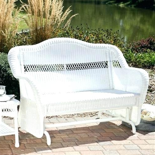 Latest Outdoor Gliders For Sale – Apuntaesa Intended For Prospect Hill Wicker Settee Benches (View 5 of 20)