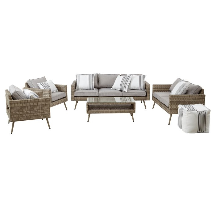 Latest Pantano Loveseat With Cushions Inside Pantano Loveseats With Cushions (View 4 of 20)