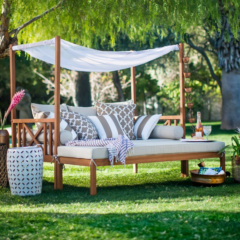 Latest Patio Daybeds With Cushions With Regard To Belham Living Brighton Outdoor Daybed And Ottoman (View 6 of 20)