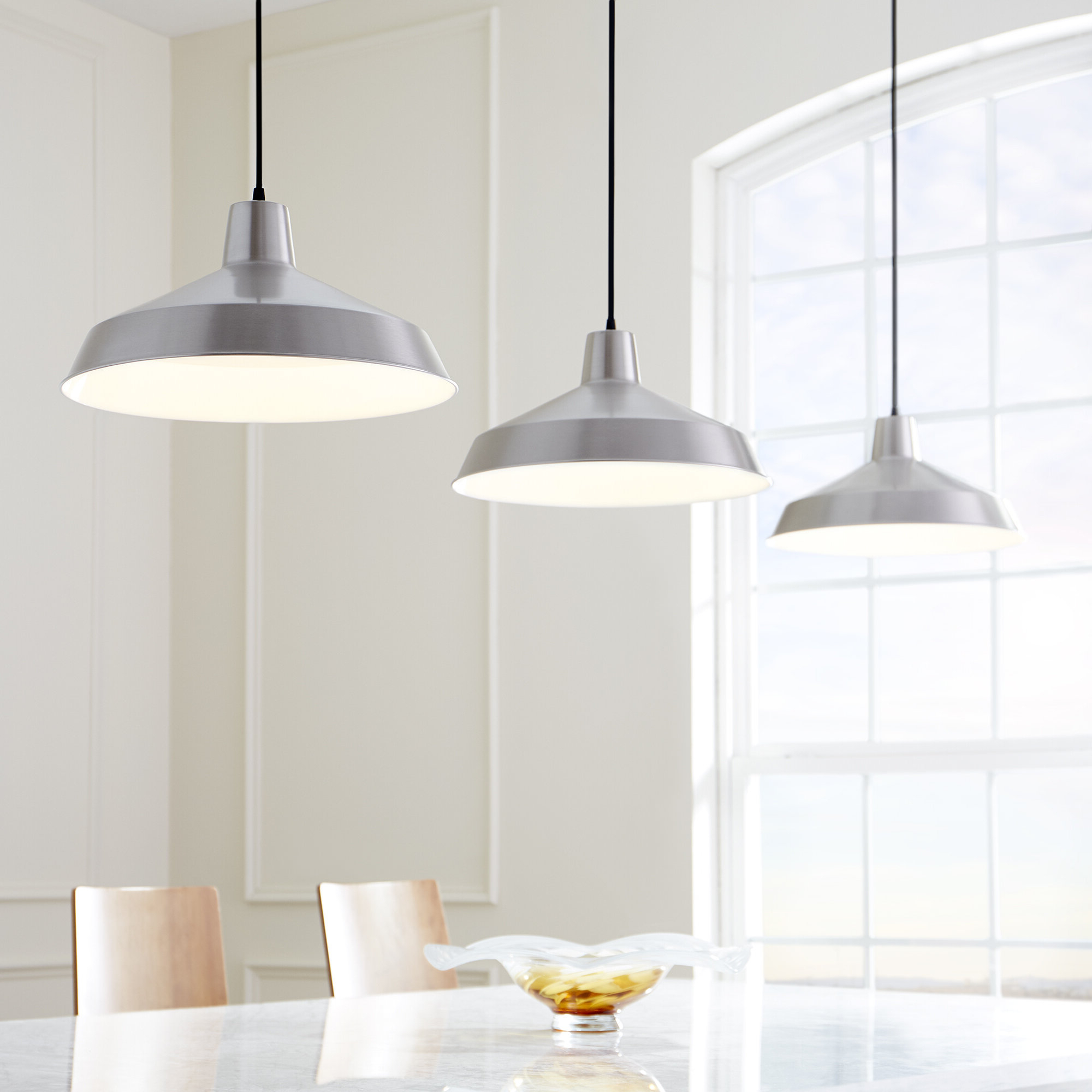 Latest Pewter & Silver & Satin Nickel Pendant Lighting You'll Love Intended For Kimsey 1 Light Teardrop Pendants (Gallery 17 of 20)