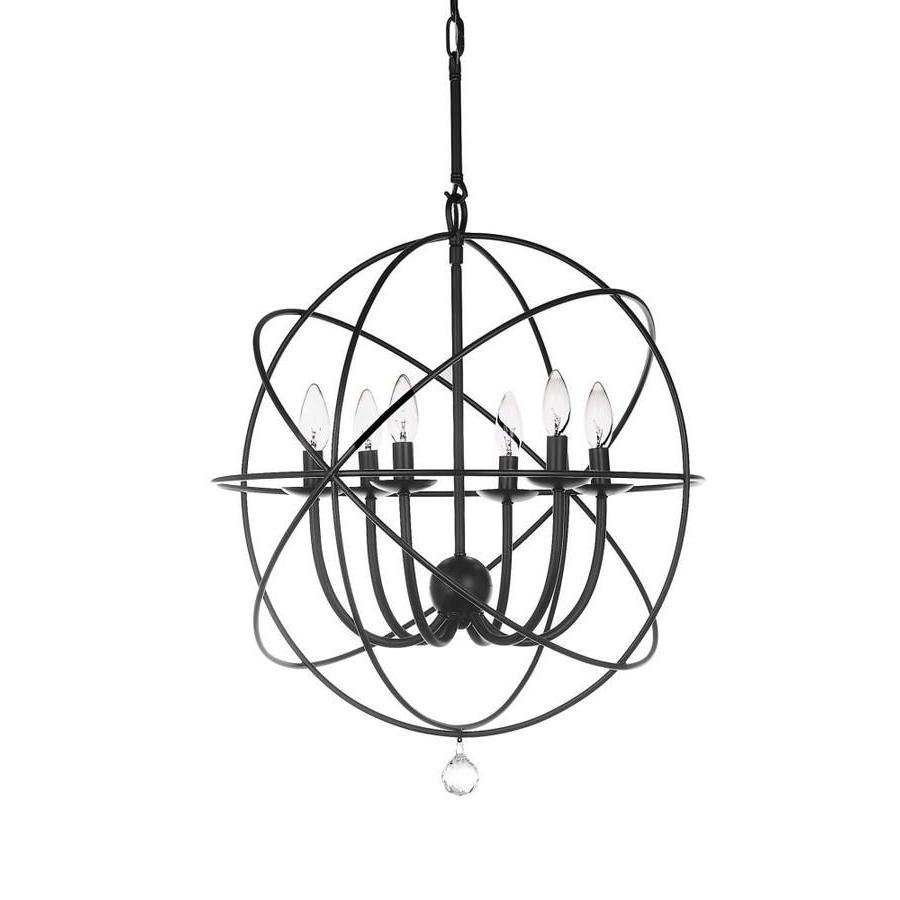 Latest Safavieh Evie 1 Light Black Modern/contemporary Globe Pertaining To Waldron 5 Light Globe Chandeliers (View 5 of 20)
