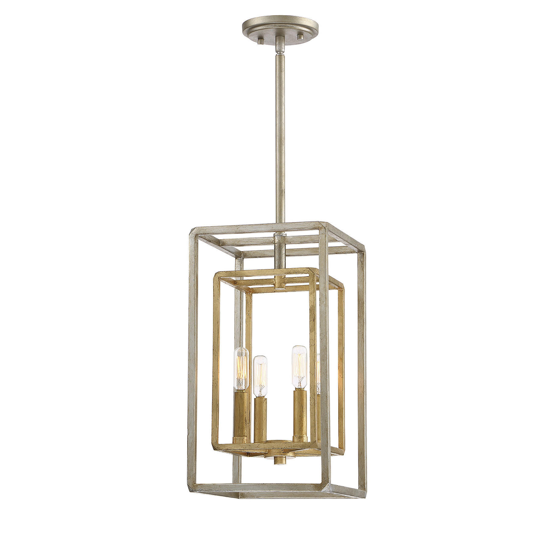 Latest Sherri Ann 3 Light Lantern Square / Rectangle Pendants With Regard To Eglantina 4 Light Lantern Square / Rectangle Pendant (Gallery 12 of 20)