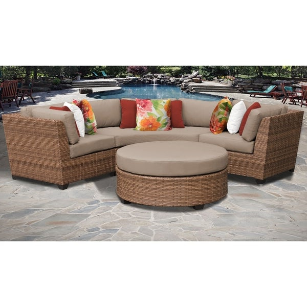 Latest Shop Laguna 4 Piece Outdoor Wicker Patio Furniture Set 04A In Laguna Outdoor Sofas With Cushions (View 13 of 20)