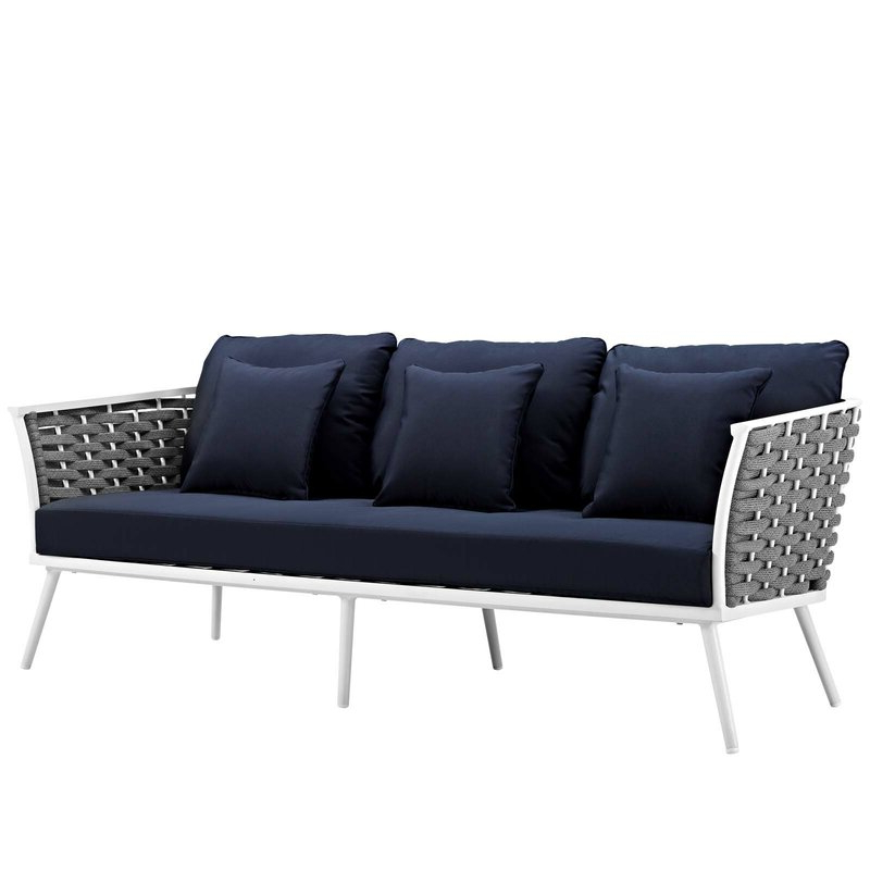 Latest Stapleton Wicker Resin Patio Sofas With Cushions With Rossville Outdoor Patio Sofa With Cushions (View 11 of 20)