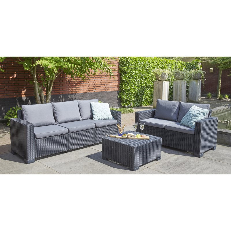Latest Stockwell Patio Sofas With Cushions With Regard To Stallcup Patio Sofa With Cushions (View 6 of 20)