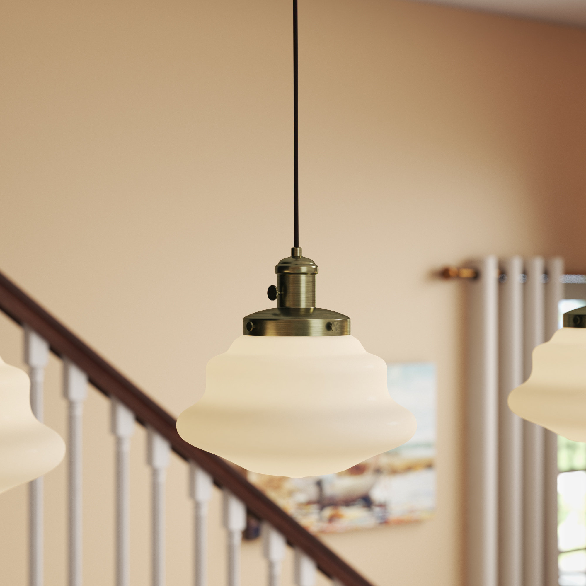 Latest Terry 1 Light Single Bell Pendants Intended For Pudalov 1 Light Schoolhouse Pendant (View 14 of 20)