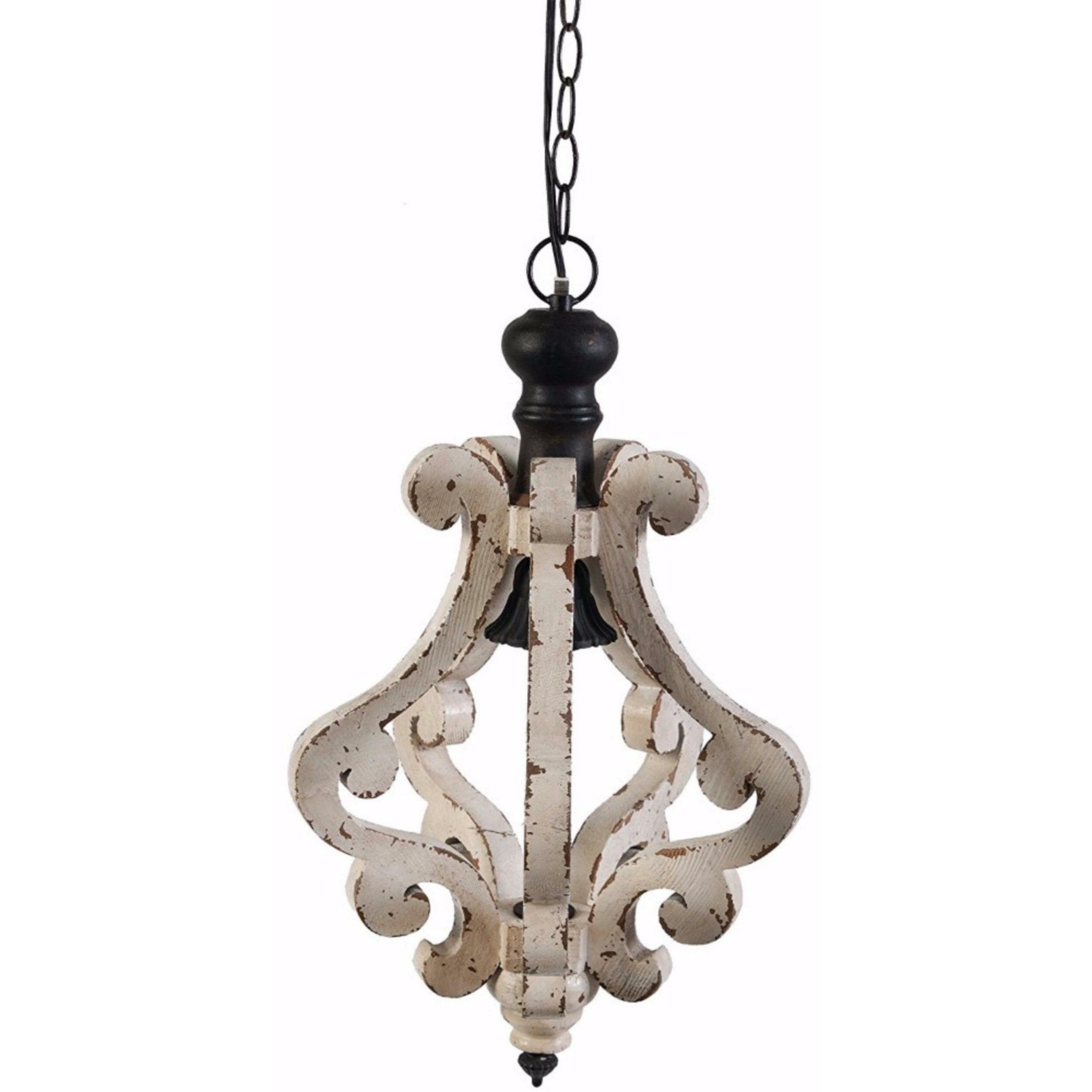 Latonia Wooden 1 Light Single Geometric Pendant Throughout Favorite Grullon Scroll 1 Light Single Bell Pendants (View 11 of 20)