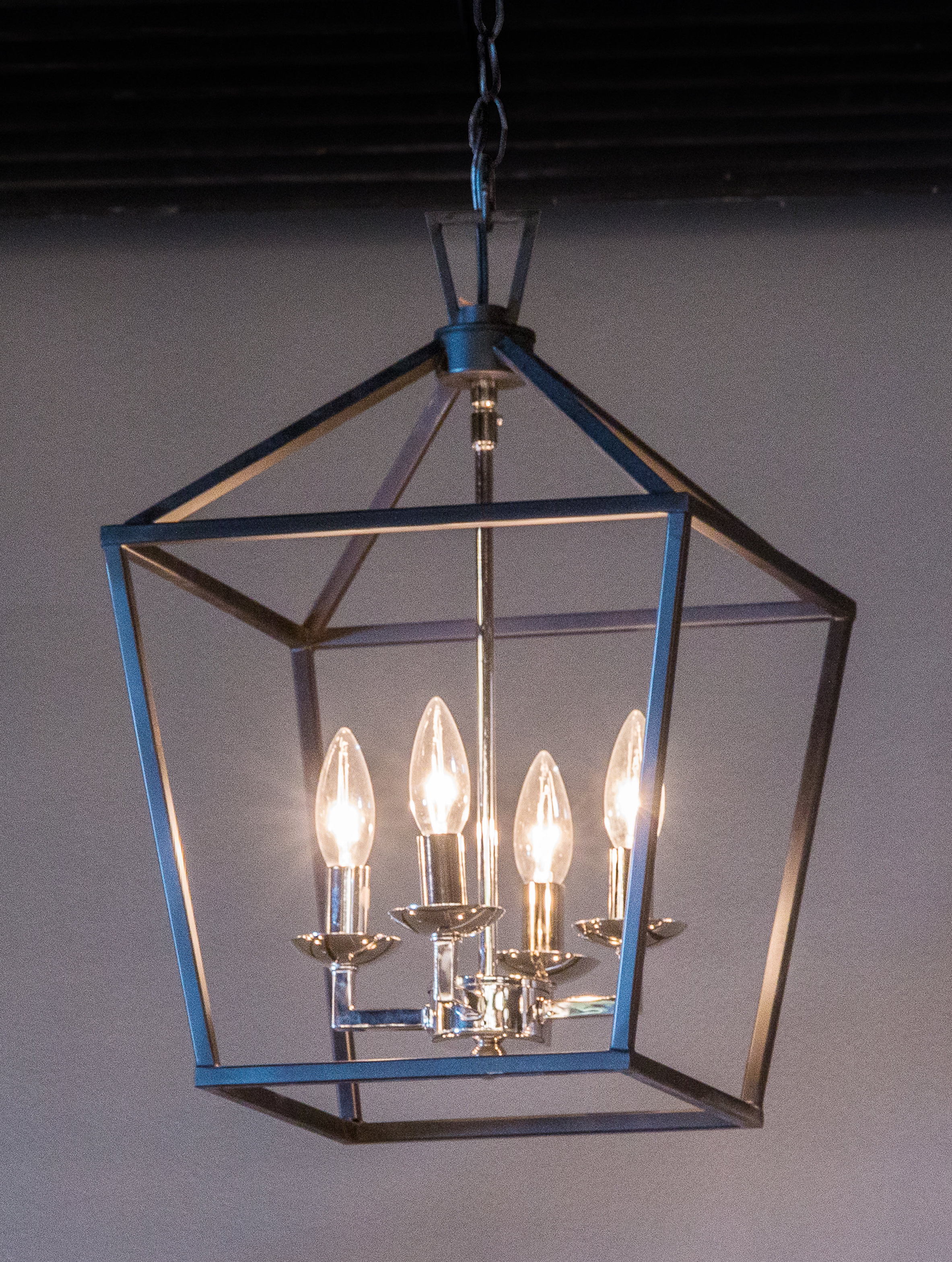 Laurel Foundry Modern Farmhouse Carmen 4 Light Lantern Geometric Pendant Within Best And Newest Nisbet 6 Light Lantern Geometric Pendants (View 6 of 20)