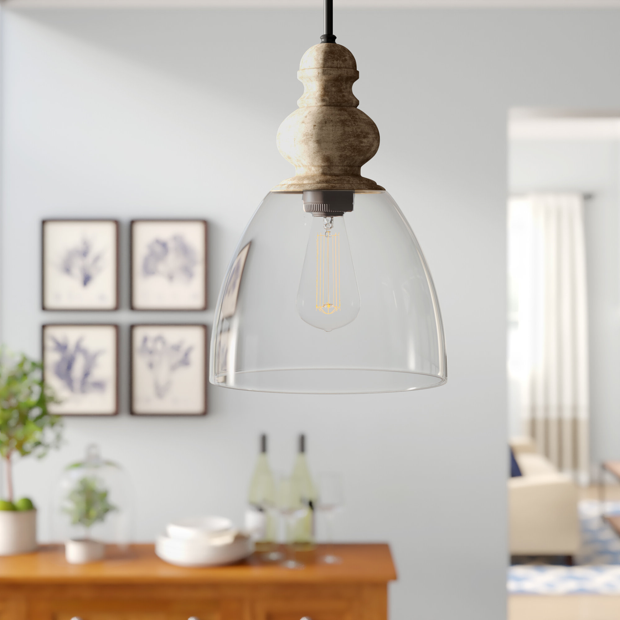 Laurel Foundry Modern Farmhouse Lemelle 1 Light Single Bell Pendant Intended For Favorite Bundaberg 1 Light Single Bell Pendants (View 12 of 20)