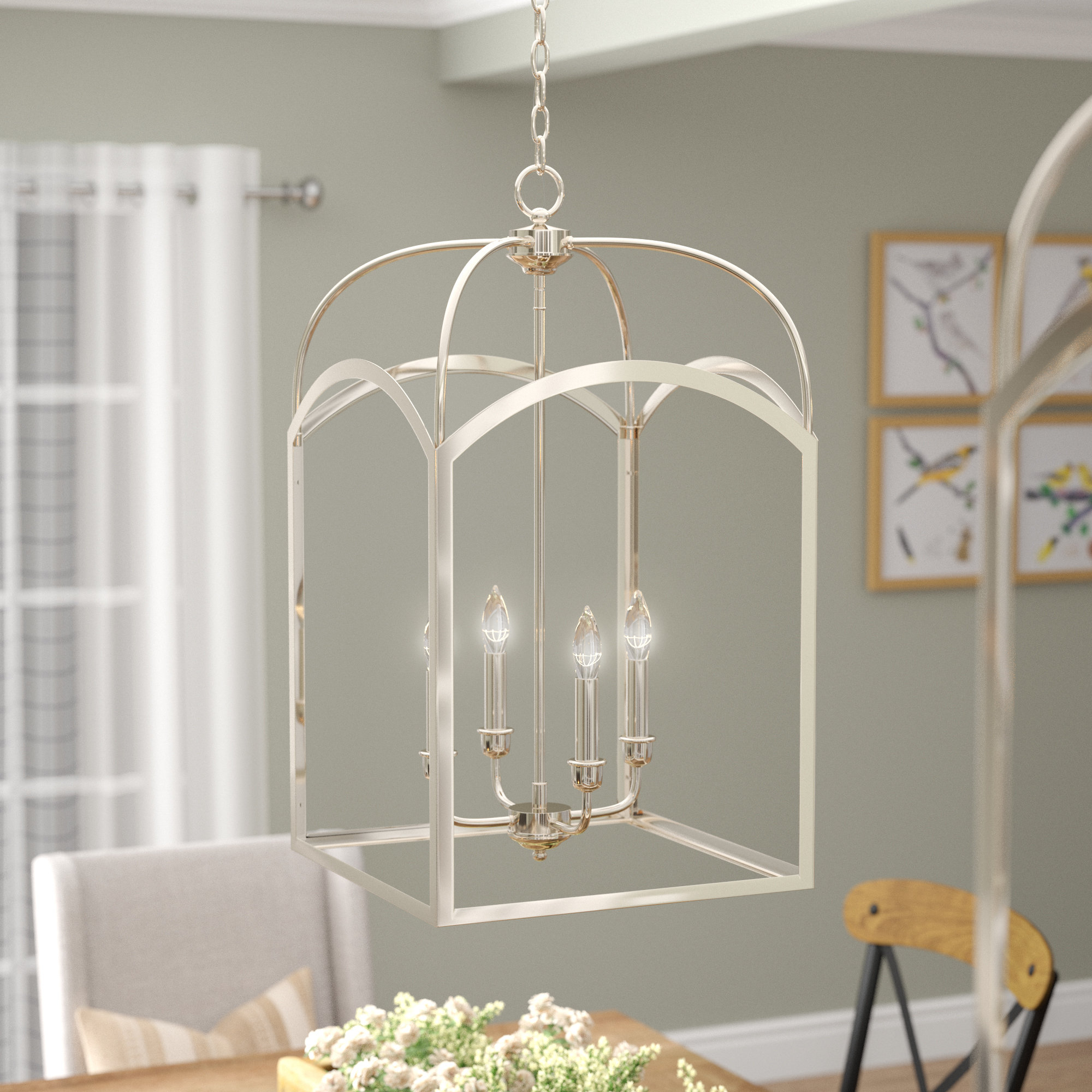 Laurel Foundry Modern Farmhouse Mount Airy 4 Light Lantern Pertaining To Trendy Taya 4 Light Lantern Square Pendants (View 14 of 20)