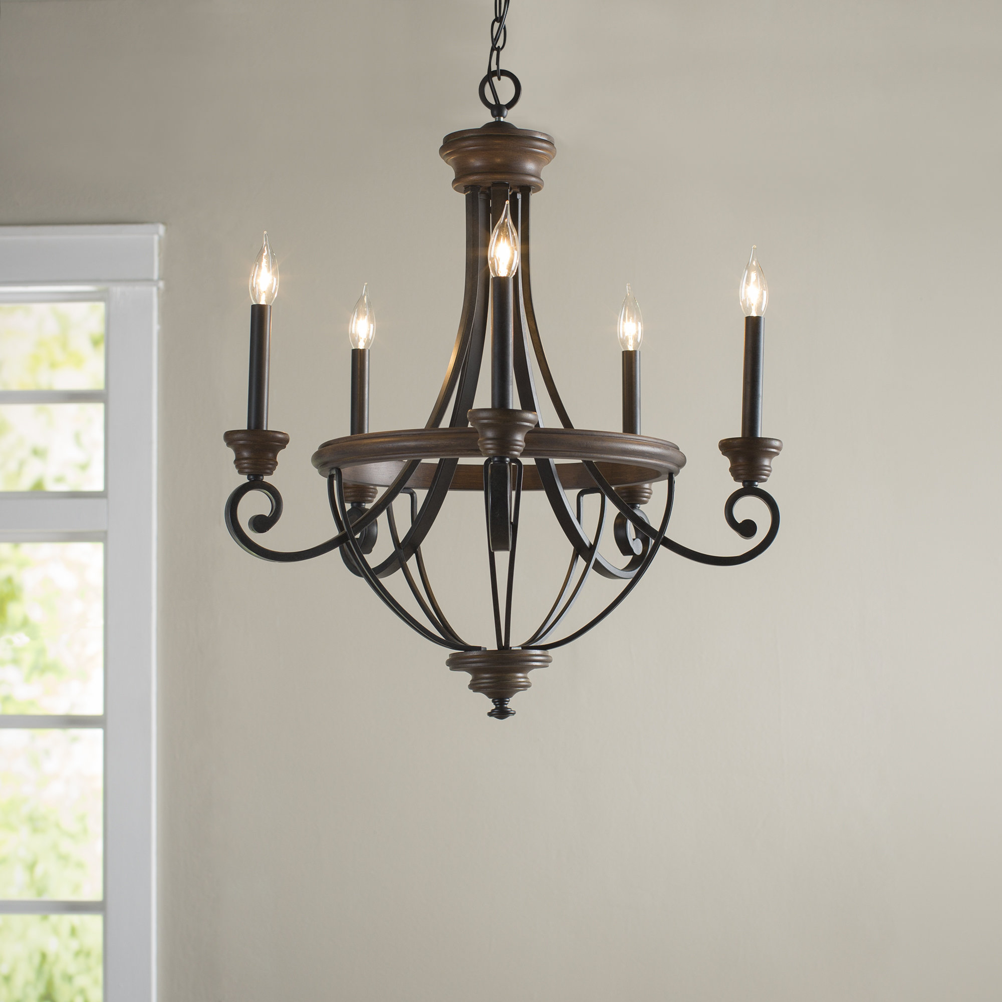 Laurel Foundry Modern Farmhouse Nanteuil 5 Light Empire Chandelier Pertaining To Recent Kenna 5 Light Empire Chandeliers (Gallery 7 of 20)