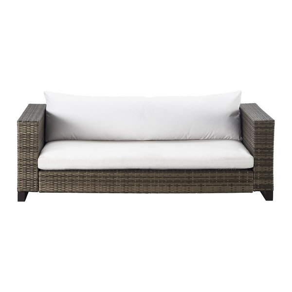 Laverton Loveseats With Cushions In Newest Modern & Contemporary Outdoor Wicker Loveseat (View 16 of 20)