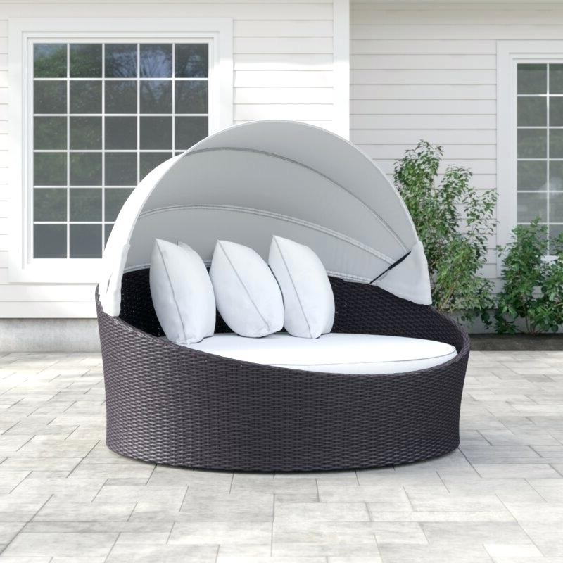 Leiston Round Patio Daybeds With Cushions Within Trendy Round Patio Daybed – Olinconboy (View 11 of 20)