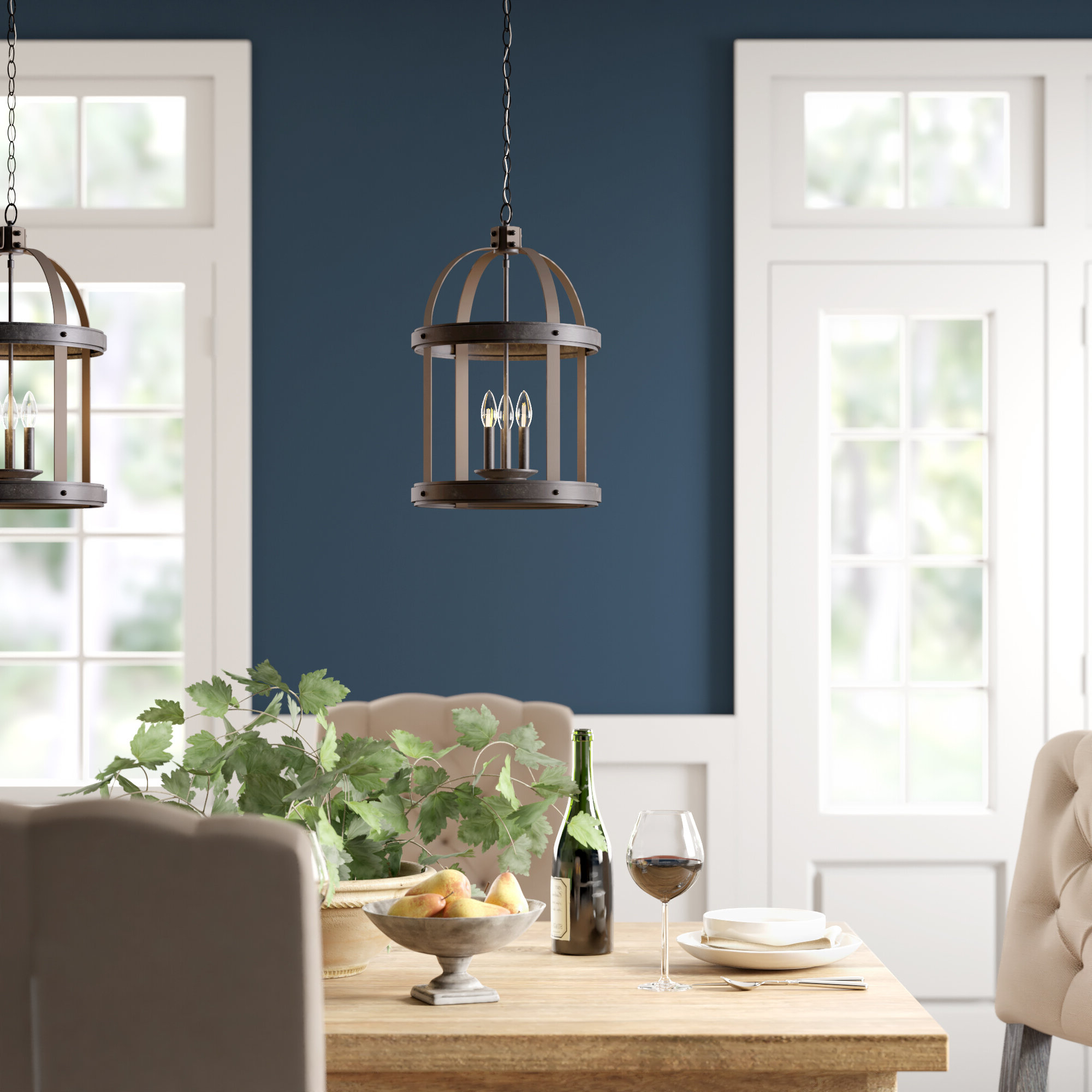 Leiters 3 Light Lantern Geometric Pendants With Newest Pawling 3 Light Lantern Cylinder Pendant (View 12 of 20)
