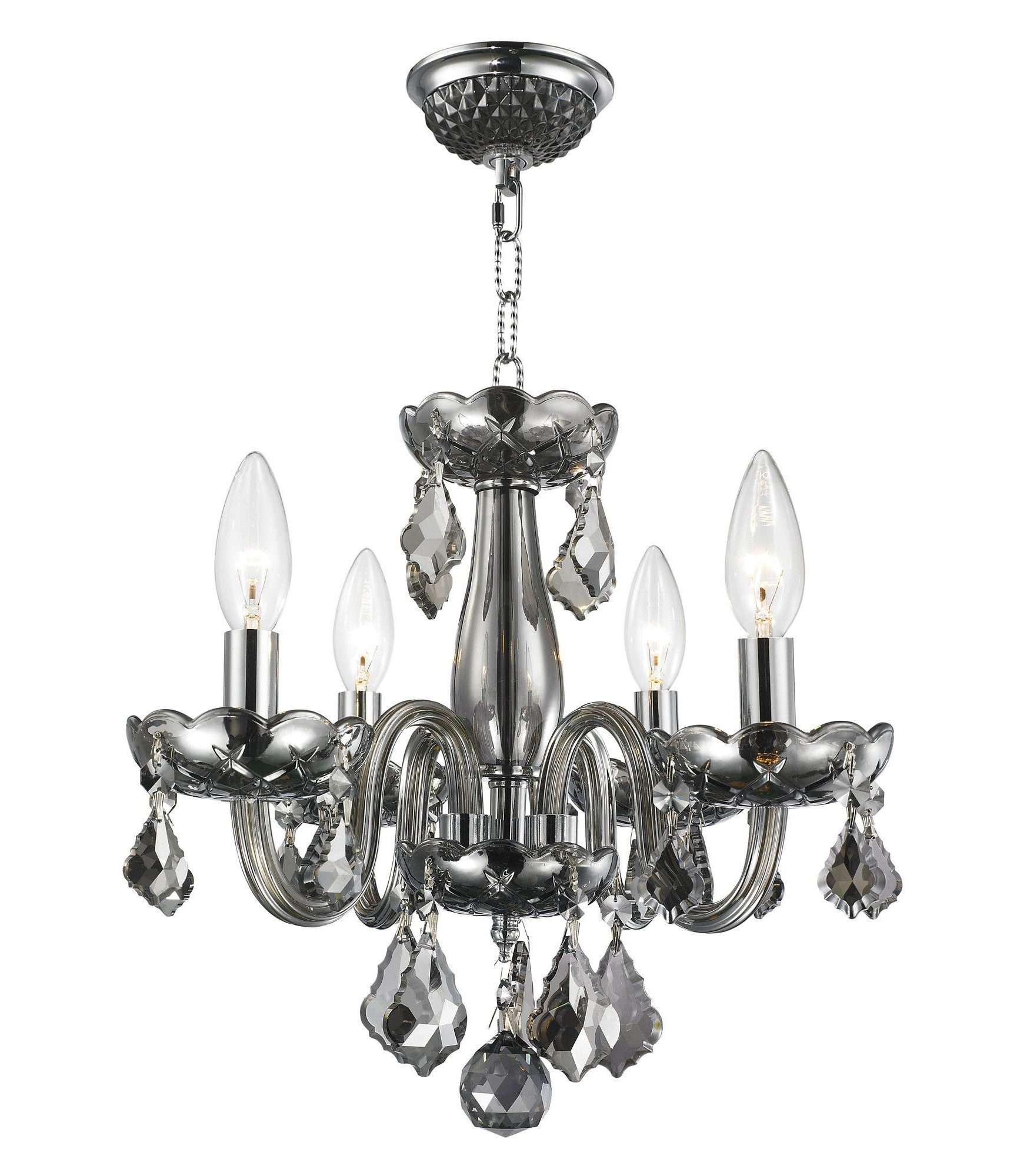 Lighting For Latest Aurore 4 Light Crystal Chandeliers (View 11 of 20)