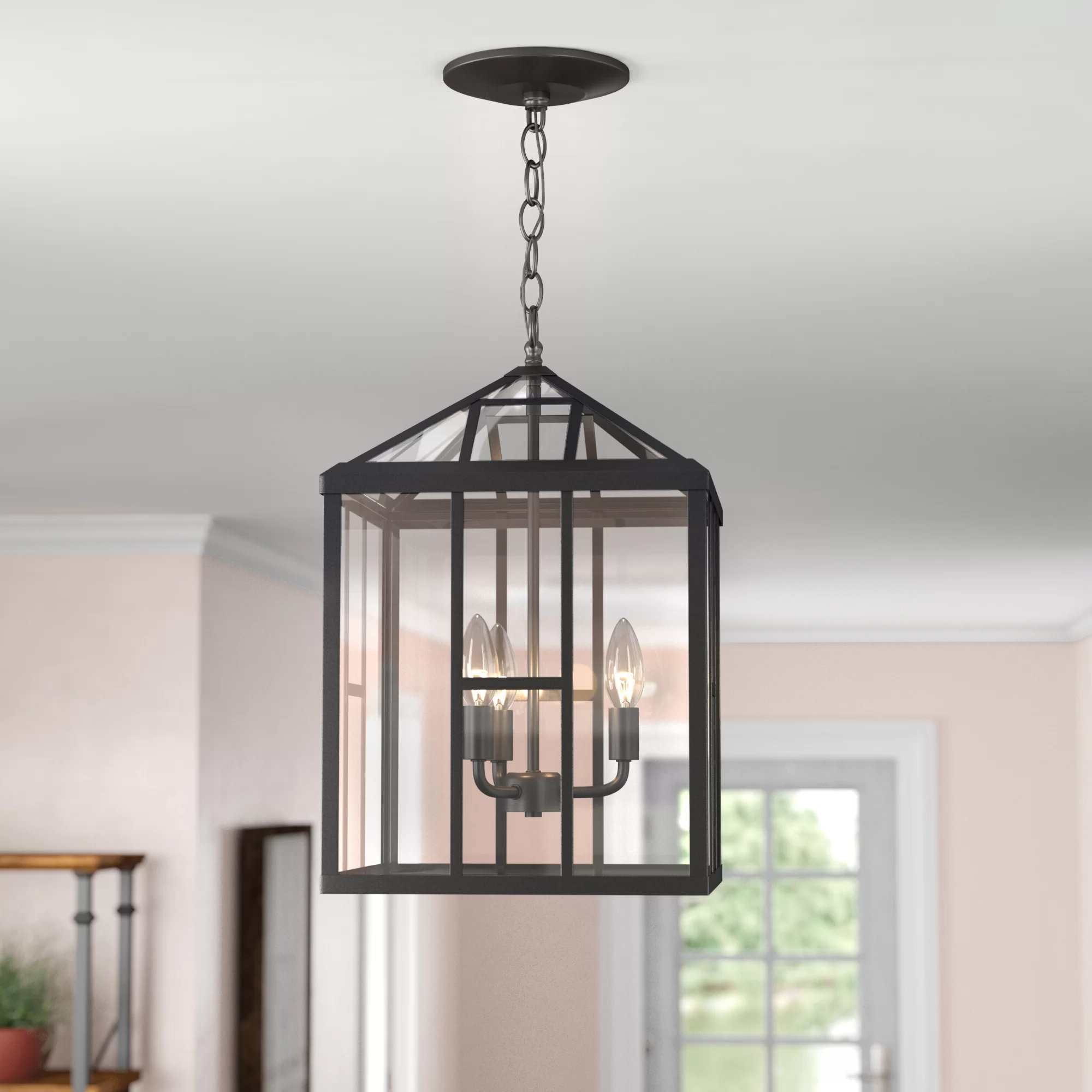 Lindsey 4 Light Drum Chandeliers Intended For Current Farmhouse & Rustic Gracie Oaks Chandeliers (View 17 of 20)