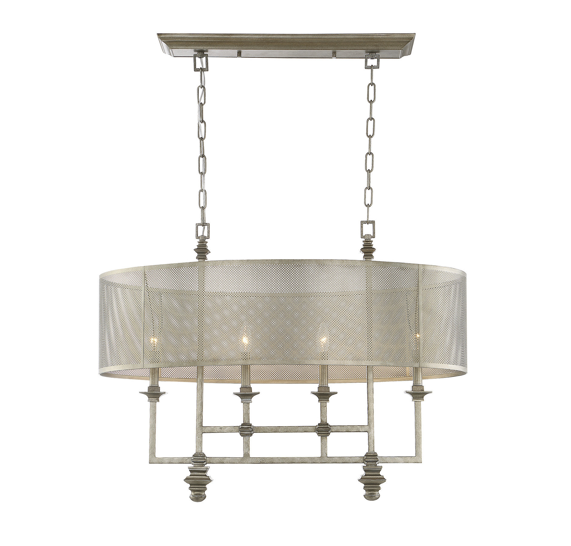 Lindsey 4 Light Drum Chandeliers Intended For Most Recently Released Freeburg 4 Light Chandelier (View 10 of 20)