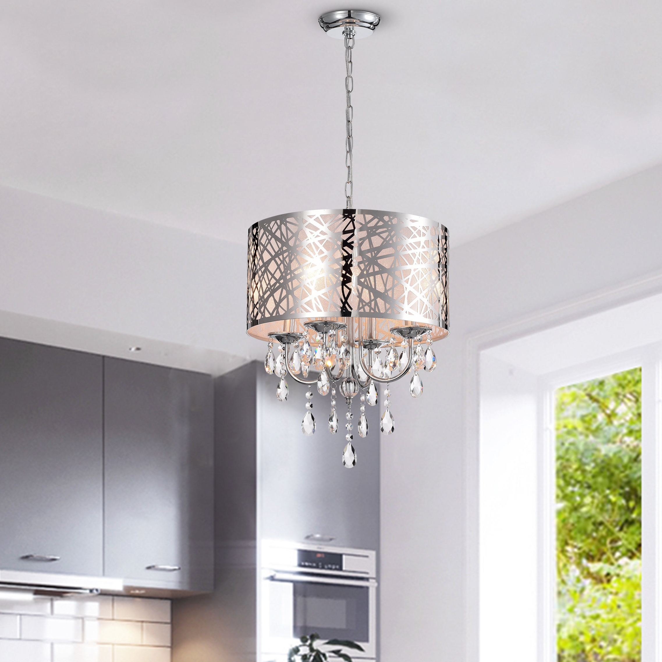 Lindsey 4 Light Drum Chandeliers Intended For Popular Alverez 4 Light Drum Chandelier (View 11 of 20)