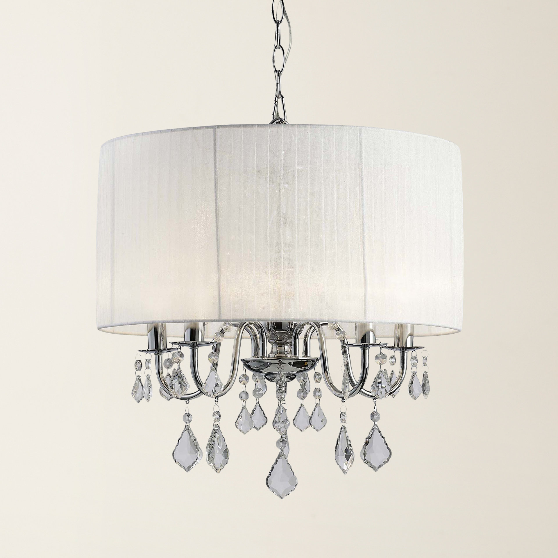 Lindsey 4 Light Drum Chandeliers Within Fashionable Buster 5 Light Drum Chandelier (Gallery 5 of 20)