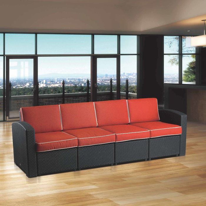 Loggins Patio Sofas With Cushions Pertaining To Widely Used Loggins Patio Sofa With Cushions (View 5 of 21)