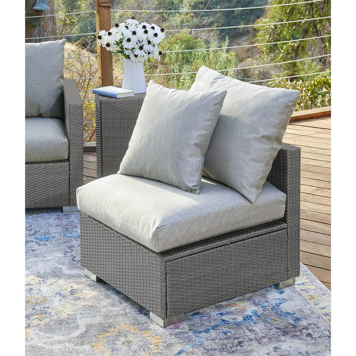 Loggins Patio Sofas With Cushions Throughout Current Mcmanis Outdoor Patio Chair With Cushions (View 20 of 21)