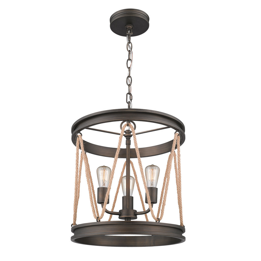 Longfellow 3 Light Cylinder Pendant With Regard To Trendy 3 Light Lantern Cylinder Pendants (View 12 of 20)