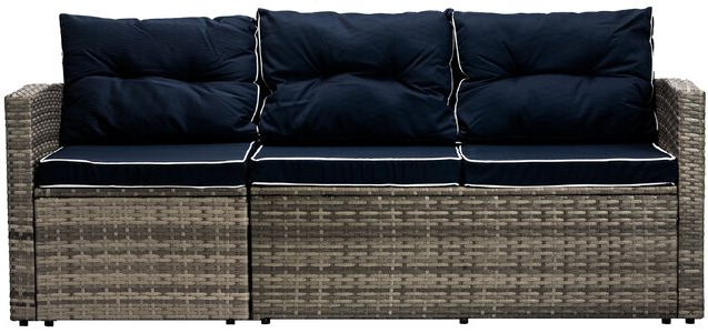 Longshore Tides Clifford Patio Sofa With Cushions For Trendy Clifford Patio Sofas With Cushions (View 10 of 20)