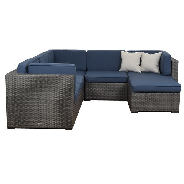 Lorentzen 6 Piece Sectional Set With Cushions Pertaining To Current Lorentzen Patio Sectionals With Cushions (View 8 of 20)