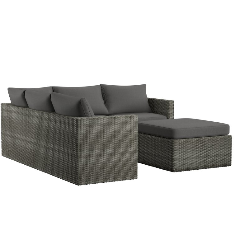 Lorentzen Patio Sectional With Cushions Pertaining To Most Recent Nolen Patio Sectionals With Cushions (View 6 of 20)