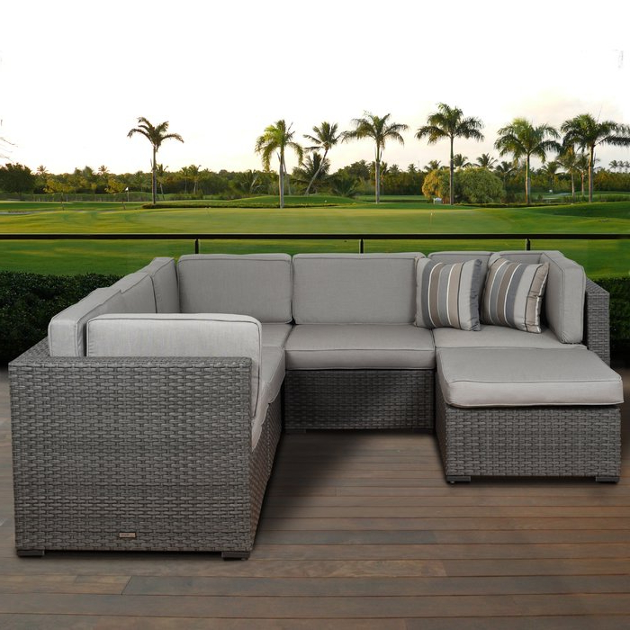 Lorentzen Patio Sectionals With Cushions In Newest Lorentzen 6 Piece Sectional Seating Group With Cushions (View 9 of 20)