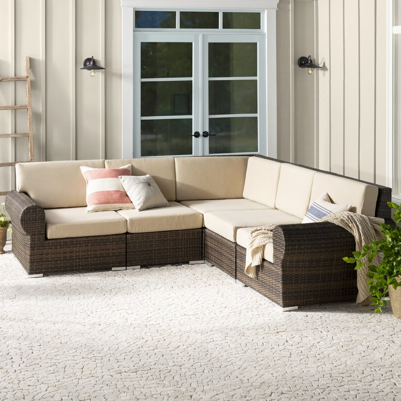 Lorentzen Patio Sectionals With Cushions In Well Liked Brookhaven Patio Sectional With Cushions (View 11 of 20)