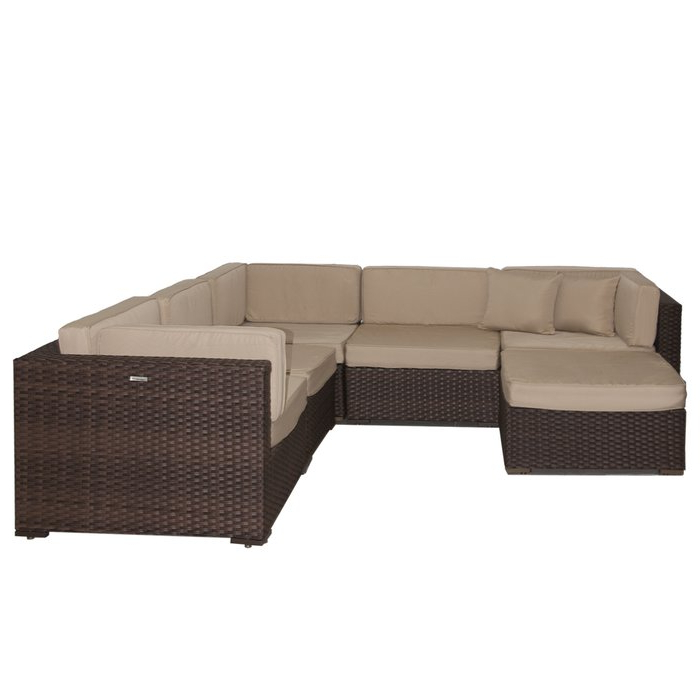 Lorentzen Patio Sectionals With Cushions With Regard To Newest Lorentzen 6 Piece Sunbrella Sectional Set With Cushions (Gallery 14 of 20)