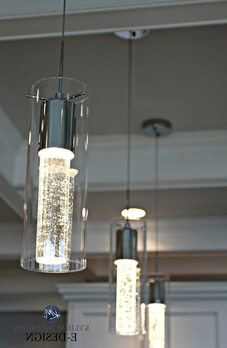 Louanne 3 Light Lantern Geometric Pendants For Fashionable Champagne Glass Style Pendant Lights Over Island (View 9 of 20)