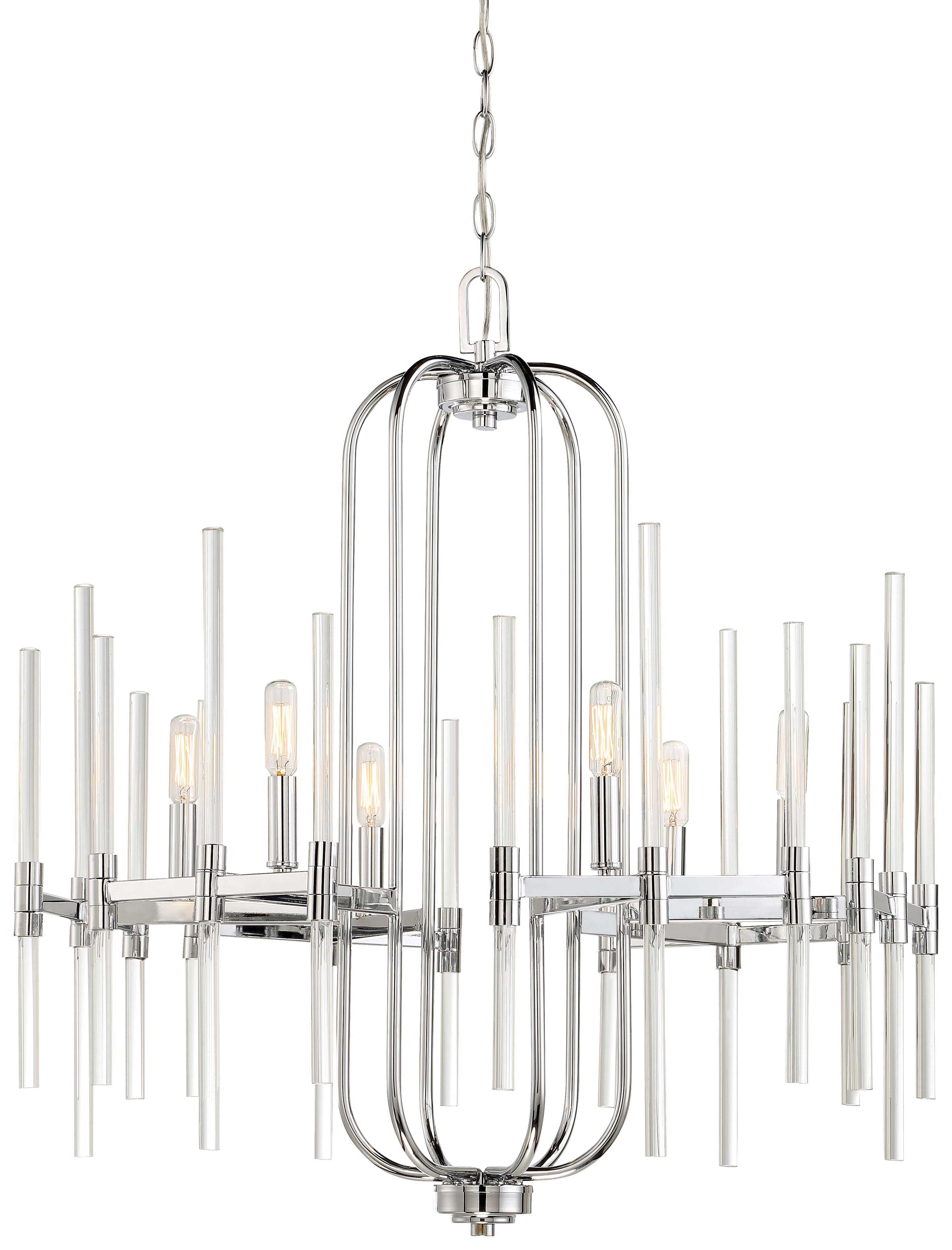 Lynn 6 Light Geometric Chandeliers Regarding Well Known Concepcion 6 Light Candle Style Chandelier (View 10 of 20)